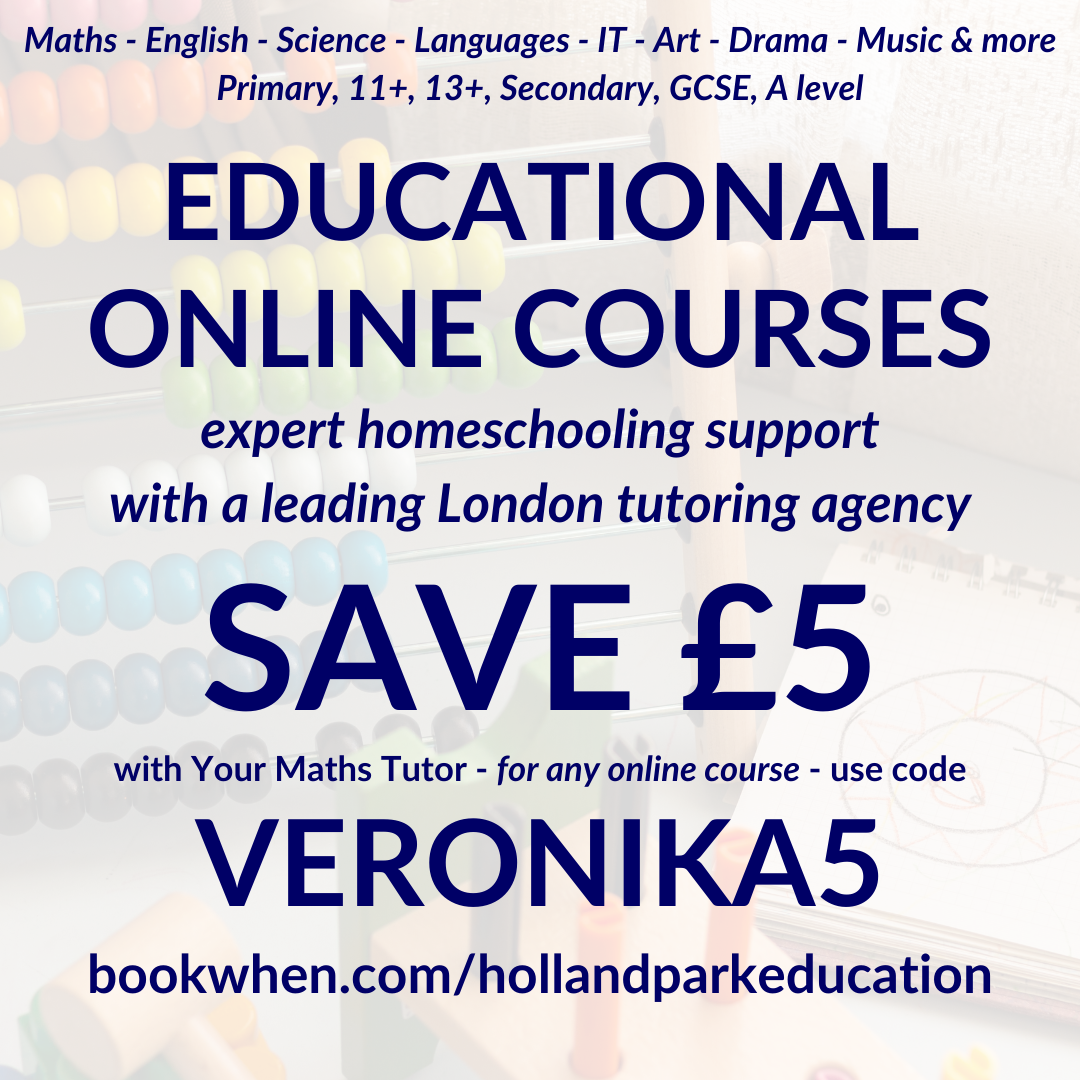 Holland Park Education Online Courses Save £5 with code VERONIKA5